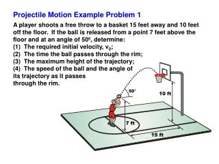 Projectile Motion Example Problem 1