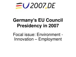 Germany's EU Council Presidency in 2007