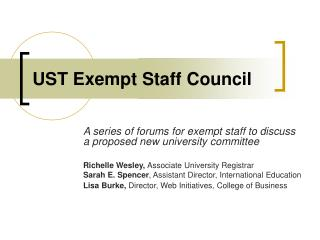 UST Exempt Staff Council