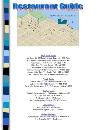 West Coast Cuisine Cardero's (1) – 1583 Coal Harbour Quay – 604-669-7666