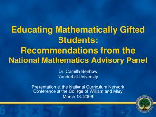 Dr. Camilla Benbow Vanderbilt University