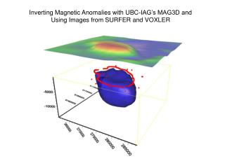 Inverting Magnetic Anomalies with UBC-IAG's MAG3D and Using Images from SURFER and VOXLER