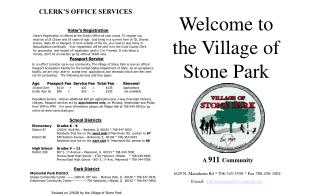 Welcome to the Village of Stone Park