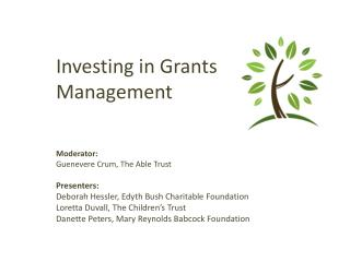 Investing in Grants Management
