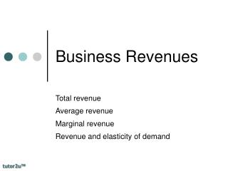 Business Revenues