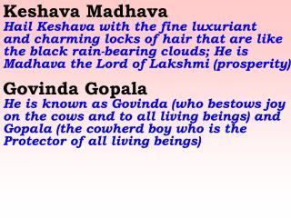 Old 649_New 766 Keshava Madhava Govinda Gopala