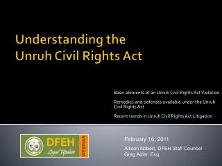 Understanding  the  Unruh  Civil Rights Act