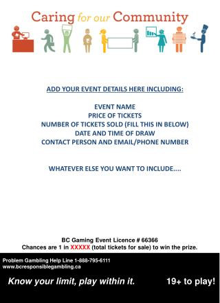 BC Gaming Event Licence # 66366