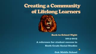 Creating a Community of Lifelong Learners
