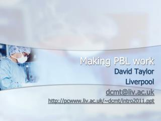 Making PBL work