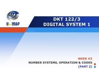 DKT 122/3 DIGITAL SYSTEM 1
