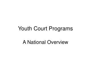 Youth Court Programs