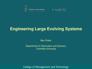 Engineering Large Evolving Systems