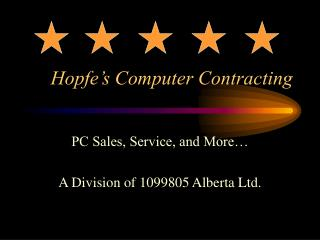 Hopfe's Computer Contracting