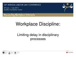 Workplace Discipline: