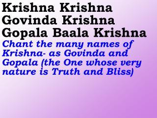 Old 656_New 782 Krishna Krishna Govinda Krishna Gopala Baala Krishna