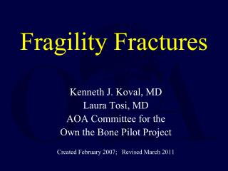 Fragility Fractures