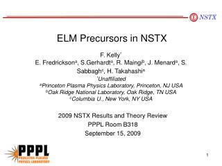 ELM Precursors in NSTX