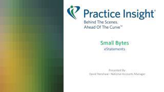 Small Bytes eStatements