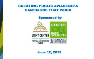 CREATING PUBLIC AWARENESS CAMPAIGNS THAT WORK