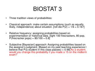 BIOSTAT 3