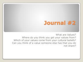 Journal #2