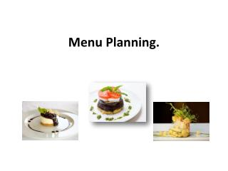 Menu Planning.