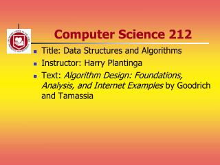 Computer Science 212
