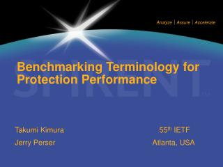 Benchmarking Terminology for Protection Performance