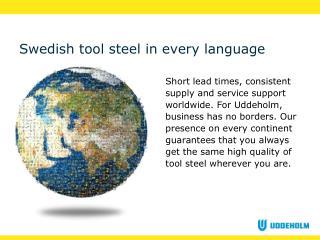 Swedish tool steel in every language
