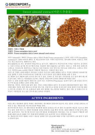 Sweet almond extract( 아몬드추출물 )