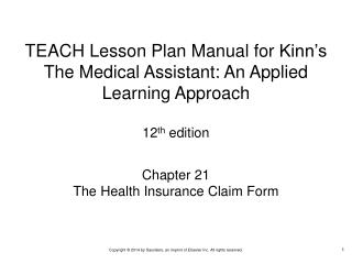 Chapter 21 The Health Insurance Claim Form