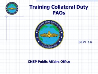 Training Collateral Duty PAOs