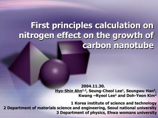 First principles calculation on nitrogen effect on the growth of carbon nanotube