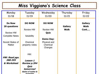 Miss Viggiano's Science Class