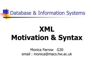 Database & Information Systems