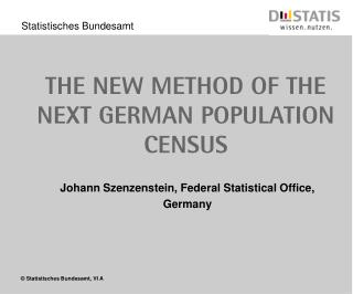The new method of the next german Population census