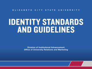 Why is institutional identity important to ECSU?