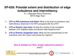XP-839: Poloidal extent and distribution of edge turbulence and intermittency