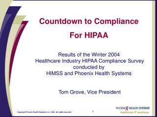 Countdown to Compliance For HIPAA