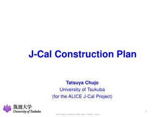 J-Cal Construction Plan