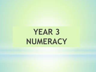 YEAR 3 NUMERACY