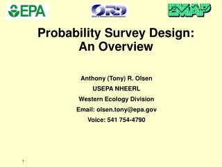 Probability Survey Design: An Overview
