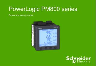 PowerLogic PM800 series