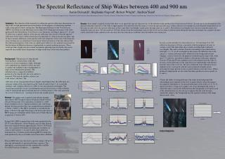 The Spectral Reflectance of Ship Wakes between 400 and 900 nm
