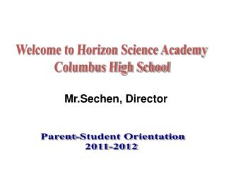 Welcome to Horizon Science Academy  Columbus High School