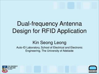 Dual-frequency Antenna Design for RFID Application