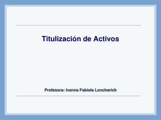 Titulización de Activos
