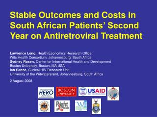 Stable Outcomes and Costs in South African Patients' Second Year on Antiretroviral Treatment