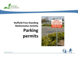 Nuffield Free-Standing Mathematics Activity Parking permits